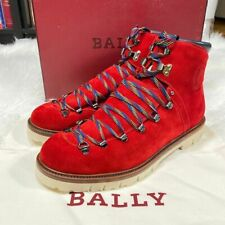 """BALLY CHACK BOOTS CORVETTE RED SUEDE MENS BOOTS SIZE 10 """"NWT"""""""