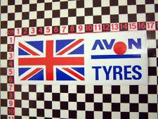 Vintage Style Avon Tyres Union Jack Sticker for British Classic Car