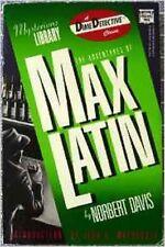 Adventures of Max Latin (Dime detective) Norbert Davis paperback 1988