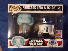Star Wars Princess Leia & R2-D2 Funko Pop Vinyls Convention Exclusive SDCC 2017