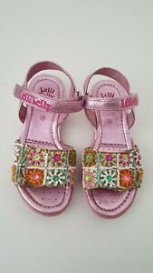 Kelli Kelly Fantasy Strap Sandals Girl Size 10M