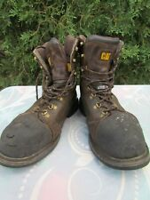 Men's CAT 13 W Brown Lace-Up Steel Toe Work Boots