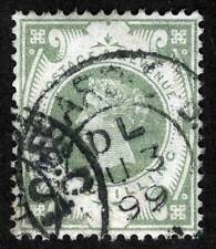 Great Britain Sc 122 Used Dated 1899 Circular Cancel