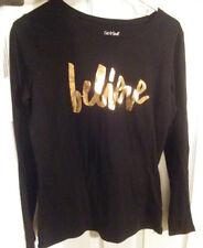 New, Girl's, Cat & Jack, Shirt, Black, XL, 14/16
