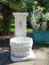 Brunnen, Wandbrunnen, 75 cm Gartenbrunnen, Steinguss, Skulpturen, Top Gartendeko