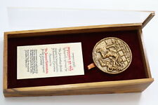 ISRAEL JERUSALEM MEDAL AWARD TO DR. JACQUES ROSENSTEIN By J. Lipchitz MASSIVE B1