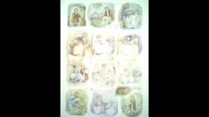 """Beatrix Potter Collage Sheet """"Tale of Mrs Tiggy-Winkle,"""" No: 1783. by F. Warne."""
