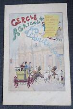 CERCLE AGRICOLE L'ESPRIT DE FAMILLE Bd Saint Germain programme 1902