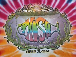VTG Y2K PHISH 2004 Farewell Concert Tour Double Sided Tie Dye T Shirt X-Large XL