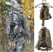 Hunting Backpack with Bow Holder Camo Crossbow Rifle Day Pack Hiking Tactical