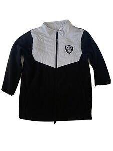 Youth Raiders NFL Team Apparel Full-Zip Track Jacket-Size XLarge