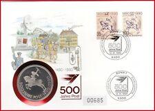 *** 500 Jahre Post *** vom 12.Jan.1990 mit Medaille Thurn u.Taxis !!!