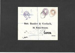 GB Stationery STO Registered QV 1d + 6d compound Envelope LONDON to Saxony