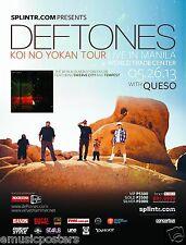 "Deftones ""Koi No Yokan Tour"" 2013 Manila, Philippines Concert Poster - Alt Metal"
