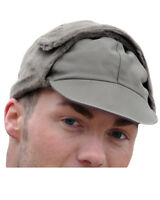 New German Army Issue Olive Green Winter Pile Cap Hat