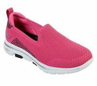 Skechers Shoes Pink Black Go Walk 5 Women's Casual Slip On Comfort Sporty 15900