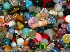 NEW 1 POUND GLASS, STONE, GEM 6-20mm of Multi-MIXED LOOSE BEADS LOT NO JUNK