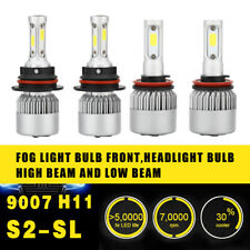 2Pair H11 9007 Fog Driving Light Coversion LED Bulb Kit 97500LM 650W White 6000K