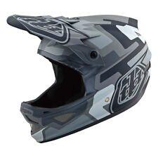 Troy Lee Designs D3 Fiberlite Speedcode Bicycle Helmet Matte Gray