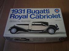 Entex 1931 Bugatti Royal Cabriolet 1:24 Scale #9587 No Instructions
