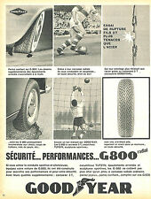 PUBLICITE ADVERTISING 015  1965  GOODYEAR  pneu G 800 RADIAL