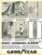 PUBLICITE ADVERTISING 015  1965  GOODYEAR  pneu G 800 RADIAL