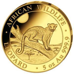 Somalia - 1.500 SH. 2021 - Leopard - African Wildlife - 5 Oz Gold PP