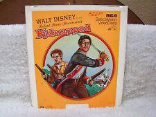 CED VideoDisc Walt Disney Pres Robert Louis Stevenson's Kidnapped (1960), RCA