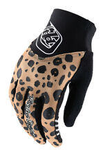 Troy Lee Designs Womens Ace 2.0 Cheetah Gold Gloves