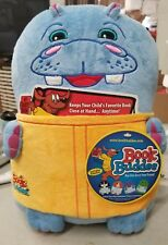 """Book Buddies Plush Storybook """"Hippo"""" Book in his Tummy 12"""" with blankie. (8C)"""