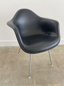 Eames Herman Miller Naugahyde Fiberglass Shell Armchair --  Mid Century Modern
