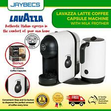 Italian Espresso Coffee Maker Machine FREE Pods Lavazza Capsules Milk Frother