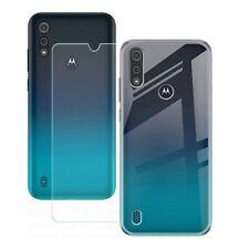 Für Motorola Moto E6i Cover Schutzhülle Transparent + Schutzfilm Glas Gehärtetes