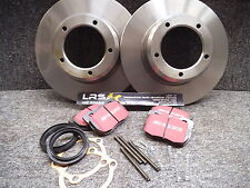 LAND ROVER DEFENDER 90 UPTO 1994 NEW Front BRAKE DISCS, PADS FITTING KIT