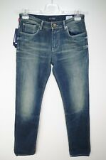 ARMANI JEANS W 29 MENS BLUE JEANS DENIM FADED FITTED FIT TIGHT LEG LOW WAIST NEW