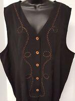Fashion Bug NWT Womens Black Brown Button Down Shirt Top Blouse Size 22 24