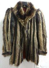 Manteau fourrure femme ecru