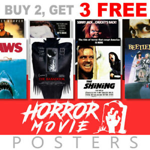 Scary Horror Movie Posters, A4, A3 270gsm, Prints Poster Art, film