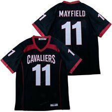 Custom Retro Mayfield #11 High School Football Jersey Sewn Black Any Names