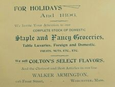 1896 Walker Armington Fancy Goods Holidays Colton's Select Flavors Nuts Etc. P46