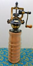 Handcrafted Farmhouse Style Old Fashioned Pepper Mill Grinder Ambrosia Maple