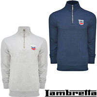 Lambretta Sweatshirt Mens 1/4 Zip Overhead Cycling Jumper Warm Winter UK S-4XL
