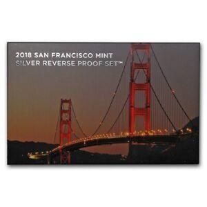 2018-S United States Mint Silver Reverse Proof Set Box & COA OGP