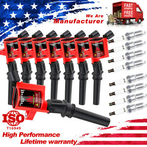 8 Ignition Coil Packs For Ford F150 Expedition Explorer 4.6/5.4L With Spark Plug