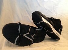 NIKE Air Jordan Used Kids 7.5 After Game II Black/White 487002-010 Sneakers A4