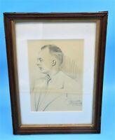 1934 Chicago World's Fair Portrait Framed Under Glass - Signed Baumgarten Studio