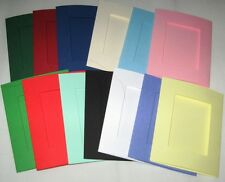 100 Aperture Cards A6  3 Fold with  Envelopes YOU PICK COLOURS & APERTURE SHAPE