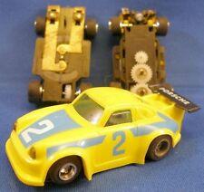 Rare 1970s Foreign Ho Yellow Porsche Carrera Slot Car