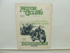 October 1952 MOTORCYCLING Magazine Matchless Clubman Model G3/L L9835