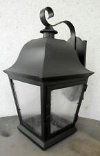 LARGE 1920S STYLE WROUGHT IRON SPANISH REVIVAL EXTERIOR OUTDOOR WALL SCONCE LAMP
